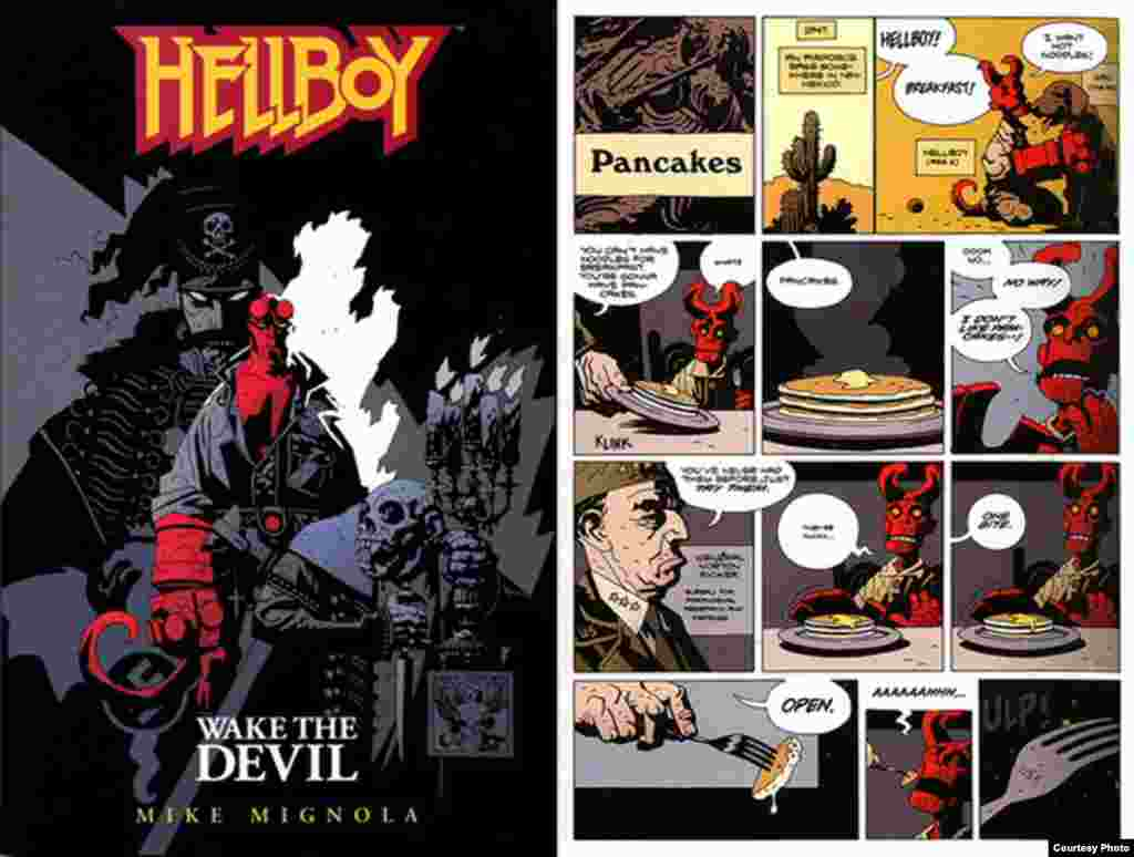 Hellboy comics are among Brimson's top-selling titles. Photo by Darren Taylor.