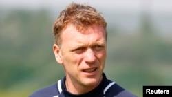 Manajer Manchester United David Moyes dalam sebuah latihan pertandingan saat ia masih menjadi manajer tim Everton. (Foto: Dok)