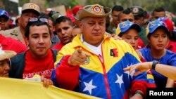 """Según Cabello las acusaciones en su contra son una """"guerra sucia"""" contra la """"patria""""."""