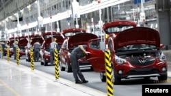 Nhà máy sản xuất xe hơi của Vinfast ở Hải Phòng.