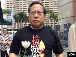 前香港民主党主席何俊仁(美国之音记者申华拍摄)