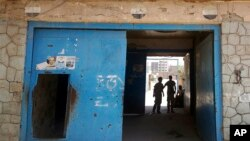 The entrance of Aden Central Prison, known as Mansoura, where one wing is run by Yemeni allies of the United Arab Emirates to detain al-Qaida suspects, is shown in this May 9, 2017 photo in Aden, Yemen. Hundreds detained in the hunt for militants have disappeared into a network of secret prisons run by the UAE and Yemeni militias it created across southern Yemen, where former detainees say torture is widespread.