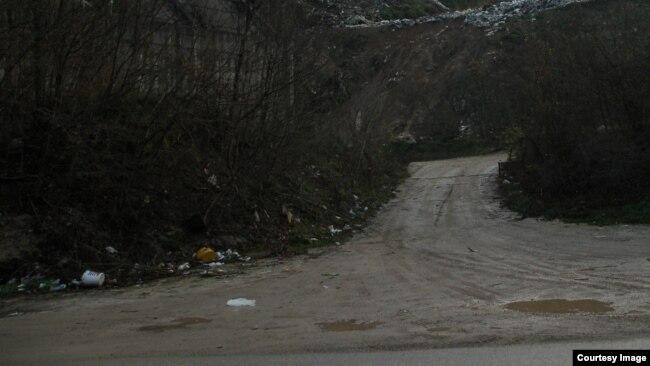 Deponija Krupac, kanjon rijeke Željeznice