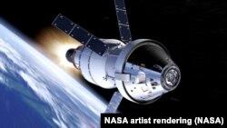 Ilustración de cómo sería la nave Orión que se planea utilizar en un futuro viaje a Marte.