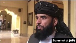 FILE - Suhail Shaheen, Taliban spokesperson, is seen in this undated photo.
