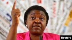 Menteri Urusan Integrasi Italia Cecile Kyenge, menteri berkulit hitam pertama di negara tersebut, yang sering menjadi sasaran hinaan rasial. (Reuters/Tony Gentile)