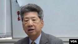 行政会议成员汤家骅不反对港府搁置修订《逃犯条例》。 (美国之音汤惠云拍摄)