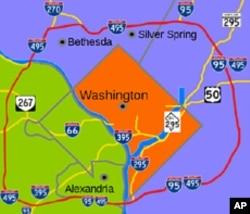 I-495首都环城路示意图