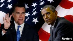 Presiden Barack Obama (kanan) dan kandidat presiden dari partai Republik AS, Mitt Romney (Foto: dok).