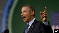 美国总统奥巴马2月26日在美国维吉尼亚州