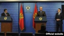 Crnogorski premijer Milo Đukanović i poptredsjednik i ministar spoljnih poslova Igor Lukšić (rtcg.me)