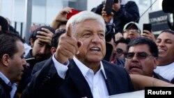 Andres Manuel Lopez Obrador (AMLO) ya kama hanyar lashe zaben shugaban kasar Mexico da aka gudanar jiya Lahadi