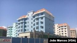"""Edifício do projecto """"Acácias Rubras"""", apreendido em Benguela, Angola"""