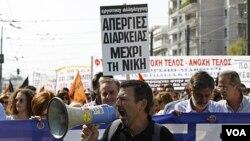 Aksi mogok menentang langkah-langkah penghematan pemerintah yang baru terus berlanjut di ibukota Athena.