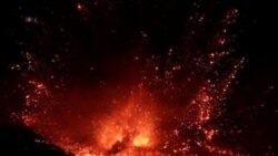 Siicily's Mount Etna Erupts