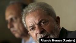 Antigo Presidente brasileiro, Luiz Inácio Lula da Silva, numa conferência no Rio de Janeiro