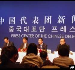 Conférence de presse de la délégation chinoise à Séoul