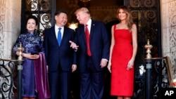 روسای جمهوری آمریکا و چین و همسران شان