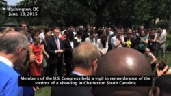 Members of Congress Hold Vigil for Victims of Church Shooting