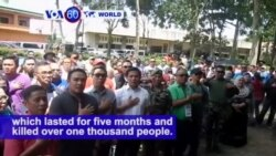 VOA60 World PM - Philippines Declares Siege by Islamist Rebels Over in Marawi City