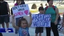 Protesta në Shkup në mbrojtje të refugjatëve