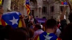 Katalanlar Gözaltıları Protestoyu Sürdürüyor