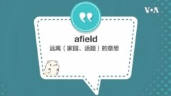 学个词 - afield