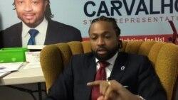 Evandro Carvalho deputado de origem cabo-verdiana em campanha nos EUA