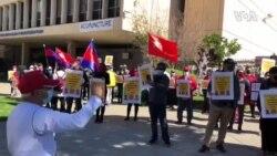 洛杉矶缅甸社区怒斥北京偷窃民主