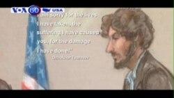 Thủ phạm vụ đánh bom Boston tạ lỗi các nạn nhân (VOA60)