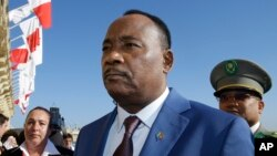 FILE - Niger President Issoufou Mahamadou, Nov. 12, 2015.