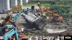 溫州動車追尾事故現場 (2011年7月24日)