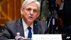 El fiscal general Merrick Garland testifica ante el Subcomité de Asignaciones de Comercio, Justicia, Ciencia y Agencias Relacionadas del Senado durante una audiencia en el Capitolio en Washington, el 9 de junio de 2021.