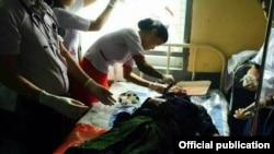 Muslim men were attacked by a mob of Rakhine Buddhists in Sittwa.