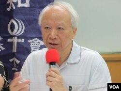 台灣聲援中國人權律師網絡召集人郭吉仁(美國之音張永泰拍攝)