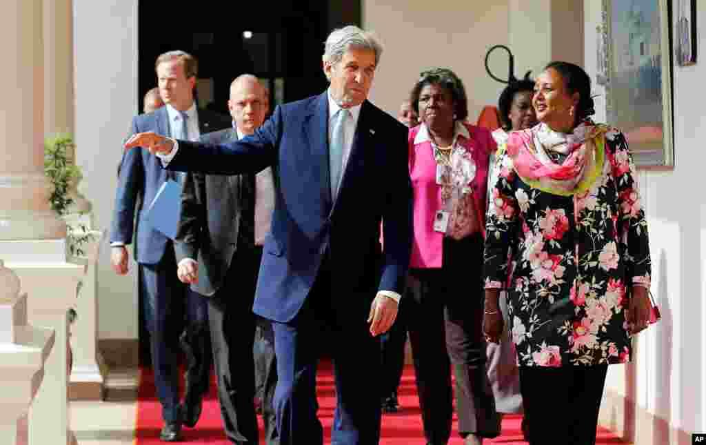 Le secrétaire d'Etat américain John Kerry à Nairobi le 22 août 2016.