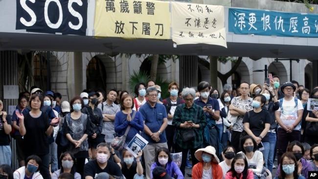 """香港银发族2019年11月15日发起""""查警暴 止警谎""""集会游行。"""