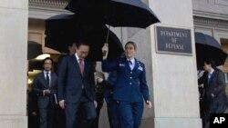 Претседателот на Јужна Кореја во посета на Вашингтон