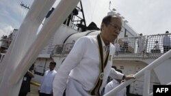Tổng thống Benigno Aquino III của Philippines lên chiến hạm Gregorio Del Pilar