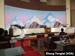 台湾总统府举行年终记者会(美国之音张永泰拍摄)