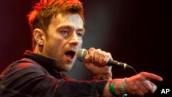 영국의 유명 록 밴드 '블러'의 리드싱어 데이먼 알반. (자료사진)