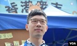 香港眾志主席羅冠聰。(美國之音湯惠芸)