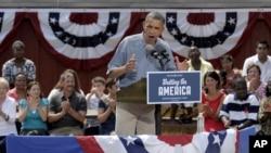 El presidente Barack Obama en el Museo Wolcott en Ohio, este 5 de julio de 2012.