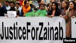 زینب قتل کیس سامنے آنے پر ملک بھر میں مظاہرے ہوئے تھے (فائل فوٹو)