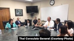 The Thai Consulate General meets with Fresno County Board of Supervisor & Sheriff in Fresno,CA. Aug,11 2017.