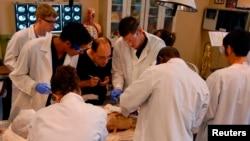 Estudantes americanos de medicina (foto de arquivo)