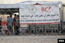 """The Barzani Charity Foundation operates 14 camps and several other large humanitarian projects in the region. BCO President Mousa Ahmed says the flight cancellations will have a """"severe impact"""" on the the refugee and displaced families it serves, Sept. 28, 2017, taken in Hassan Sham, Kurdistan Region, Iraq."""