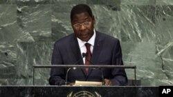Shugaba Thomas Boni Yayi na Jamhuriyar Benin yana jawabi gaban babban taron Majalisar Dinkin Duniya