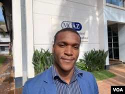 Shingai Gwatidzo, spokesperson of the Medicines Control Authority of Zimbabwe says his organization in Harare is worried by the proliferation of unlicenced medicine sellers in the southern African nation, Oct. 22, 2018. (C.Mavhunga/VOA)