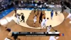 2014-04-08 美國之音視頻新聞: 康州大學獲全美大學男籃聯賽冠軍